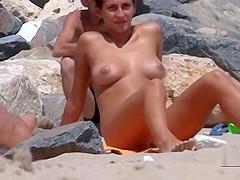My Step sister spreads on nude beach