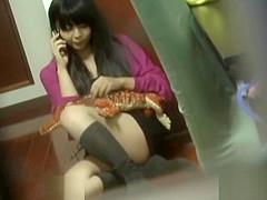 Japanese ho rubs herself