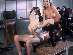 Steve Holmes eagerly fucks vixens dripping wet pussies