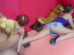 Teen Schoolgirl Upskirt Dick Flash by Creepy Stepfather