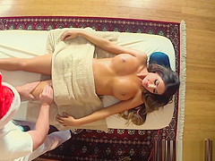 Bigtitted babe pussyfucked and massaged