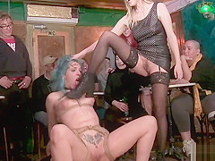 Spanish slut bdsm fucked in public
