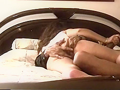 Pretty latina girlfriend sucks and rides boyfriend, gets ass fingered and lots of cum in pussy on hidden camera