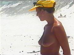 Topless stroll