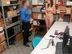 Officer Tommy Gunn and suspect Bella Rolland fucked at the LP office for sneaking things under her clothing