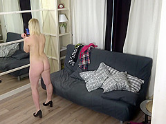 Spy cam in the room my young big tits stepdaughter