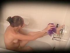 Amanda caught taking bath