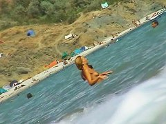 Hidden beach camera is hunting for sexy nudist girls shots