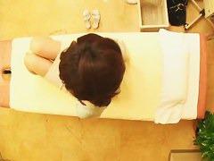 Hidden camera in a massage room video of an asian girl