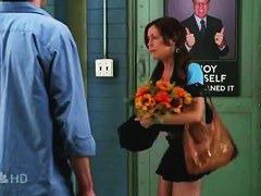Hot tv actress up short black skirt public camera view