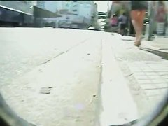 Hidden public camera tapes MILF up skirt ass and pussy