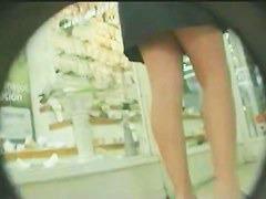 Up skirts peeks at two ladies wearing panties