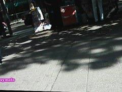 Sexy round butt gets filmed on a hidden cam