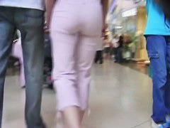 I followed this brunette around the mall with my spy cam
