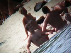 Nude beach voyeur catches a hot busty blonde showing off
