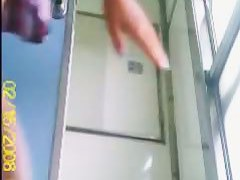A hot chick pissing on a train