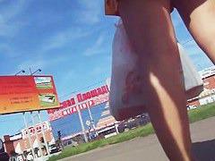 Upskirt shot of hot women in short skirts
