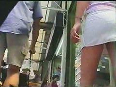Great juicy ass in an upskirt voyeur video