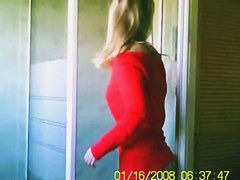 Sexy blonde on a spy cam shower vid