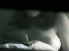 Huge melons shot by a window spy cam