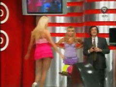 Hot upskirt video of a blond chick bowling