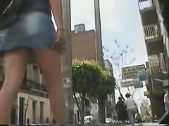 skinny yet very sexy panties upskirt in slow motion gently swaying
