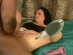 Beautiful brunette gets broken by a BBC