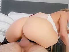 Muscle white guy girl Spying on her as she