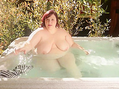 Sexy pool time for the BBW