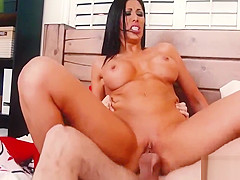 American Tall Step Mom Makes Son To Fuck In Bedroom