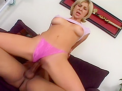 Short Hair Blond Has A Great Time With Her Man