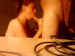 Elli the blowjob whore sucking a fat Cock