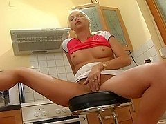 Blonde Bombshell Silva Spring Plays With Her Pussy
