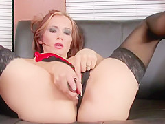 Megan Gets Super Wet Fucking With Her Pussy