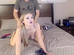 Sexy Amateur Blonde Gives Head And Rides A Cock
