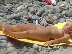 Hot Babes on Nudist Beach