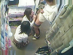 Two Japanese teen shop sex