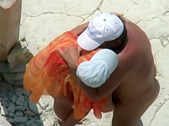 Mature Couple fucking at the Beach