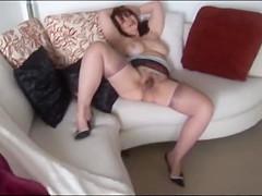 Big tits Mature slowly strips