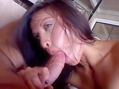 Amateur Babe With Small Tits Rides Two Men