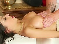 Groped babe filmed during kinky massage