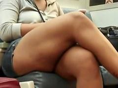 Candid Hawt Crossed Legs twenty