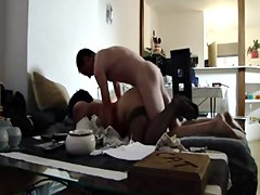 Fat ass wife gets boned in homemade voyeur sex video