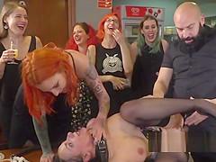Slave disgraced in Barcelona public bar