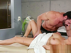 Squirting fuck massage for big tit client