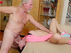 Teen Crystal Rae Gets Her Mouth And Pussy Impaled