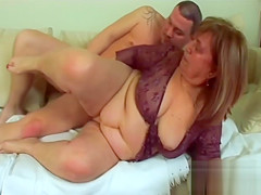 Huge titted granny wants young cum