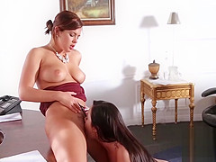 Hot PAWG Thick Teen Lesbians Share Orgasms