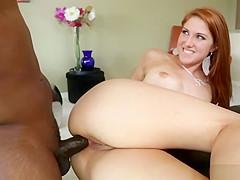 Redhead Rose Red loves sucking Lexington Steele huge cock