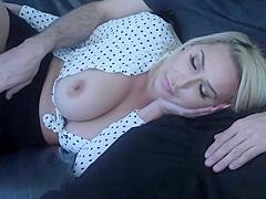My cock addict busty MILF stepmother sucked my big cock